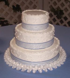3-tiered cake